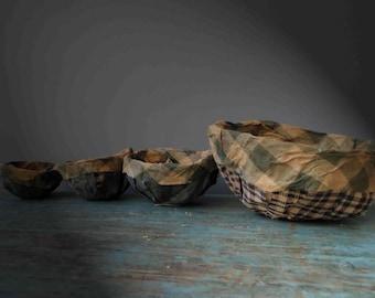 Primitive Prim Fabric Nesting Bowls Set of 4 Textile Bowls