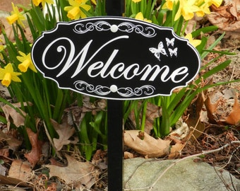 WELCOME, Garden Sign - Free Shipping