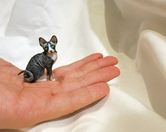 Miniature sphynx cat 1:12 scale