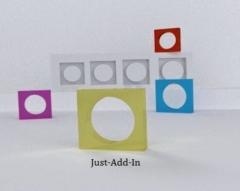 silicone square ring mold for resin, concrete or polymer clay model MARIA