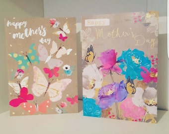 Mothers day - card - butterflys - flowers - gift card - mum - nan - say thank you - i love you - mothering sunday - handmade