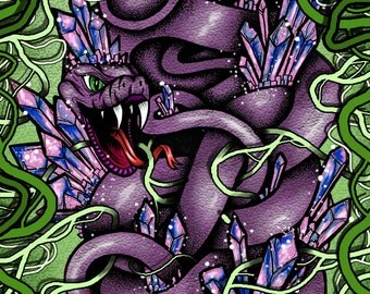 Psychedelic Snake Art Print