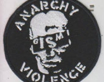 Gism punk hardcore embroidered patch - Anarchy Violence