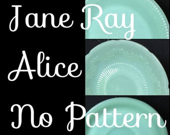Various Jadeite/Jadite Sauce, Bowls, and Plates // Jane Ray // Alice // All ca 40s-50s