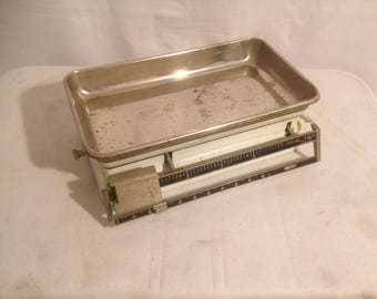 TESTUT 5 kgs white + tray Metal Vintage kitchen scale
