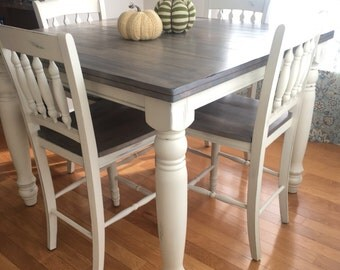 Countertop Height Kitchen Table Sets : Counter height table ? Etsy