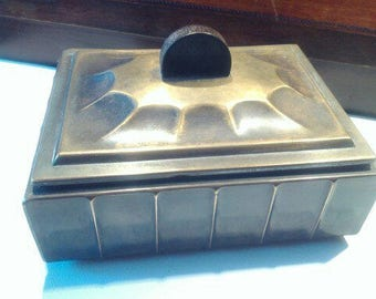 """Box metal, """"Art Nouveau""""."""