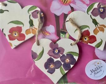 Emma Bridgewater Wallflower Wooden Heart Garland/Bunting