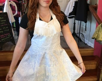 Bridal Apron, Laced Skirt, Retro Apron (440))