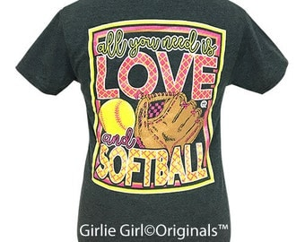 Girlie Girl Originals All You Need Softball Dark Heather Short Sleeve T-Shirt
