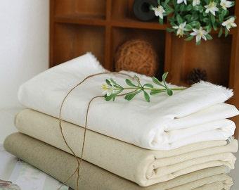 Cotton linen fabric, Natural linen fabric, Basic cotton linen fabric, 3 colors available.    - 1/2 yard
