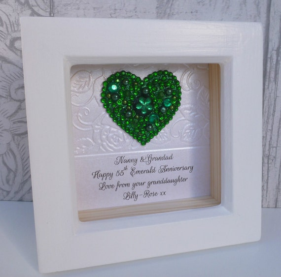 Emerald Wedding Anniversary Gifts: 55th Anniversary Gift, 55th Wedding Anniversary Gift,55th