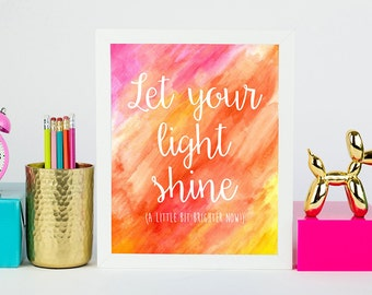 8x10 Print - Let Your Light Shine