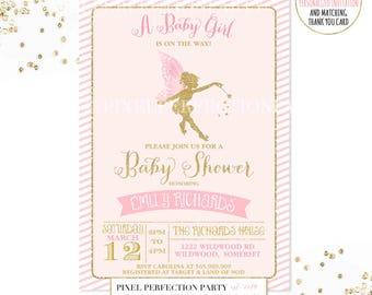 Fairy Baby Shower Invitations Etsy