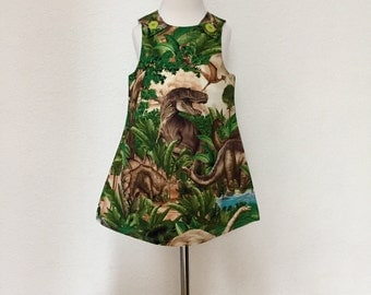 T-Rex Pinafore Dress