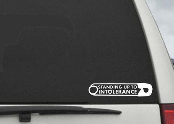 Safety Pin Standing Up to Intolerance Car Decal -  #safetypinproject  Laptop Decal
