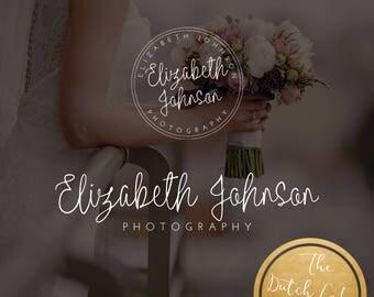 Premade Photography Logo & Sub Logo Design - Delivered in Black, White and Gold Color - Design #4 - Elizabeth Johnson