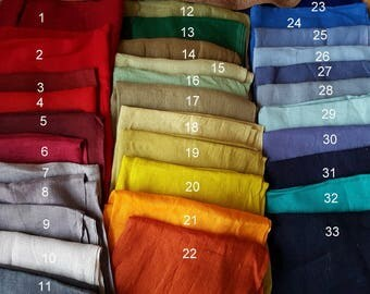 Available COLORS and TYPE of LINEN for women and man clothing