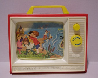 1966 Fisher Price Two Tune TV 114 London Bridge Row Row Your Boat