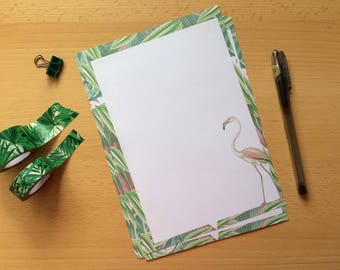 Vintage Tropical Birds Writing Paper- Note Paper-Stationery Unlined