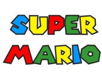 Super Mario Applique Machine Embroidery Designs Applique Alphabets Designs 5 Size Bx Embroidery Applique Fonts - INSTANT DOWNLOAD