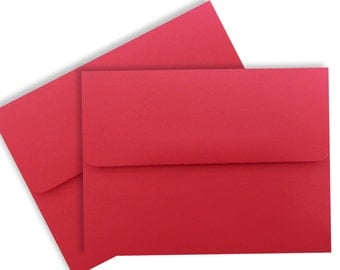 Holiday Red (50 Boxed) A7 Envelopes for 5 x 7 Invitations Wedding Announcements Showers Communions  Response Astrobrights Re-Entry Red