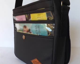 JW Ministry Bag-Faux Leather. Women's Ministry bag/Magazine holder/Tract holder/Messenger bag/Adjustable strap/Service bag