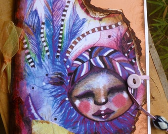 Notebook, Journal, Handmade Notebook, Handmade Journal, Cute Journal, Bird Journal, Bird Notebook, Children, Stationary, Office, School