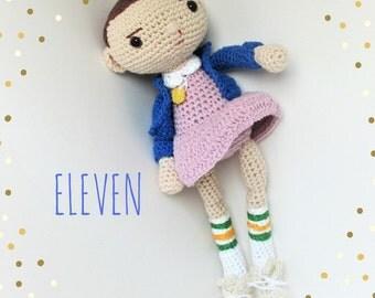 Amigurumi cotton Eleven doll