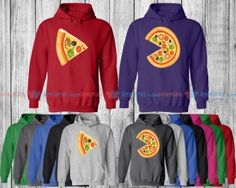 Pizza & The Slice - Matching Couple Shirts - His and Her T-Shirts - Love Tees