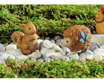Fairy Garden  - Enchanted Forest Animals Set of 2 - Miniature