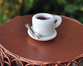 Fairy Garden  - Coffee Cup & Spoon - Miniature