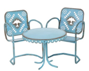 Fairy Garden  - Bluebird Bistro Set - Miniature
