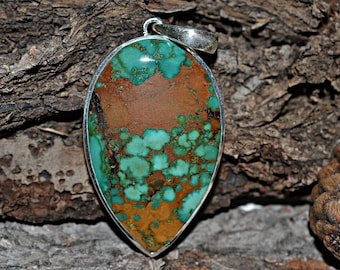 Turquoise Pendant, Turquoise Silver Pendant, 925 Silver Pendant, Turquoise