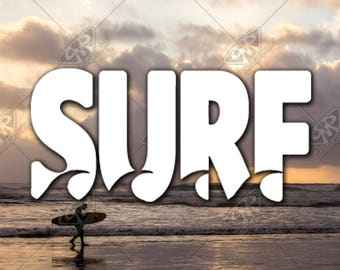 DECAL [Surf Waves] Vinyl Decal, Bumper Sticker, Car Window Decal, Car Decal, Laptop Decal, Phone Decal, Water Bottle Decal