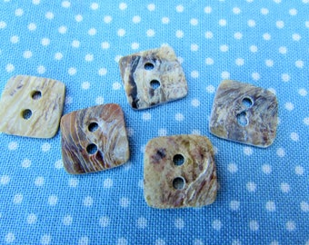 Mother of Pearl Square Buttons