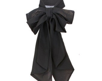 Black ready made chiffon bow