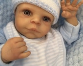 Reduced For A Limited Time  Reborn baby boy doll Miles 17 rooted eyelashes real realistic my fake baby small childs lifelike doll cheap