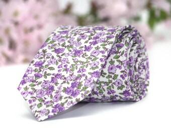 Floral Lavender purple light lilac mens Tie TC246 Mens Ties Violet Men Necktie Wedding Suit Boom Bow