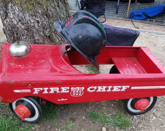 Vintage 60s AMF Fire Chief Pedal Car. Great Condition!