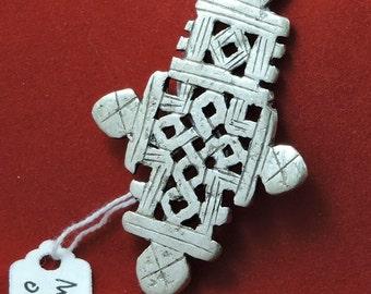 Medium Nickle Ethiopian Coptic Pendant cross MC -0071