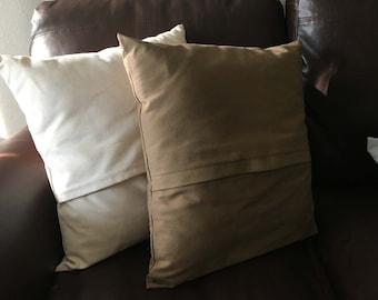 Cambria Fawn pillow cover, natural pillow, throw pillow, modern pillows, couch pillow, brown pillow sham