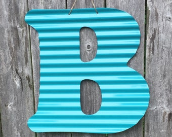 CLEARANCED! corrugated painted letter/monogram WALL/DOOR Hanging