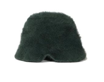 90's Fuzzy Angora Fur Green Hat