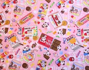 fat quarter, 1/2 meter / Japanese fabric / kawaii fabric / retro fabric / kitch fabric / panda fabric / animal fabric / sweets fabric /