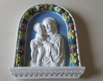 ITALY DERUTA JESUS and Mary Wall Hanging