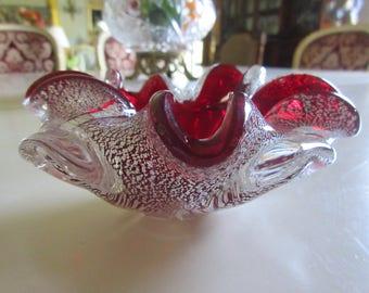 ITALY VENETIAN ART Glass Bowl