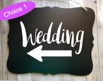 Wedding Sign - Directions for Wedding - Wedding Accessories - Wedding Decor - Wedding Advertisement