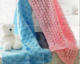 "baby blankets knitting pattern pdf 23X30"" chunky bulky 12ply pdf instant download"