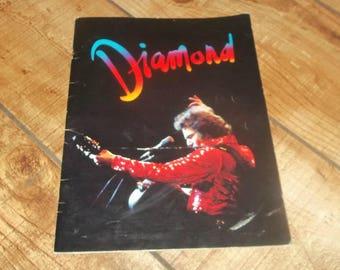 NEIL DIAMOND Tour Program Book, 1982 On The Way To The Sky, Concert souvenir, Sweet Caroline